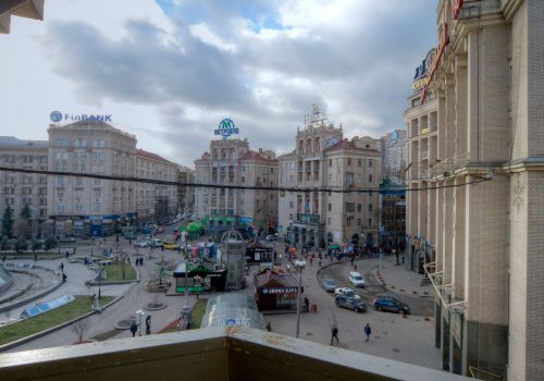 Studio apartment near Maidan with view and balcony.